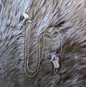 American flag flip flop necklace